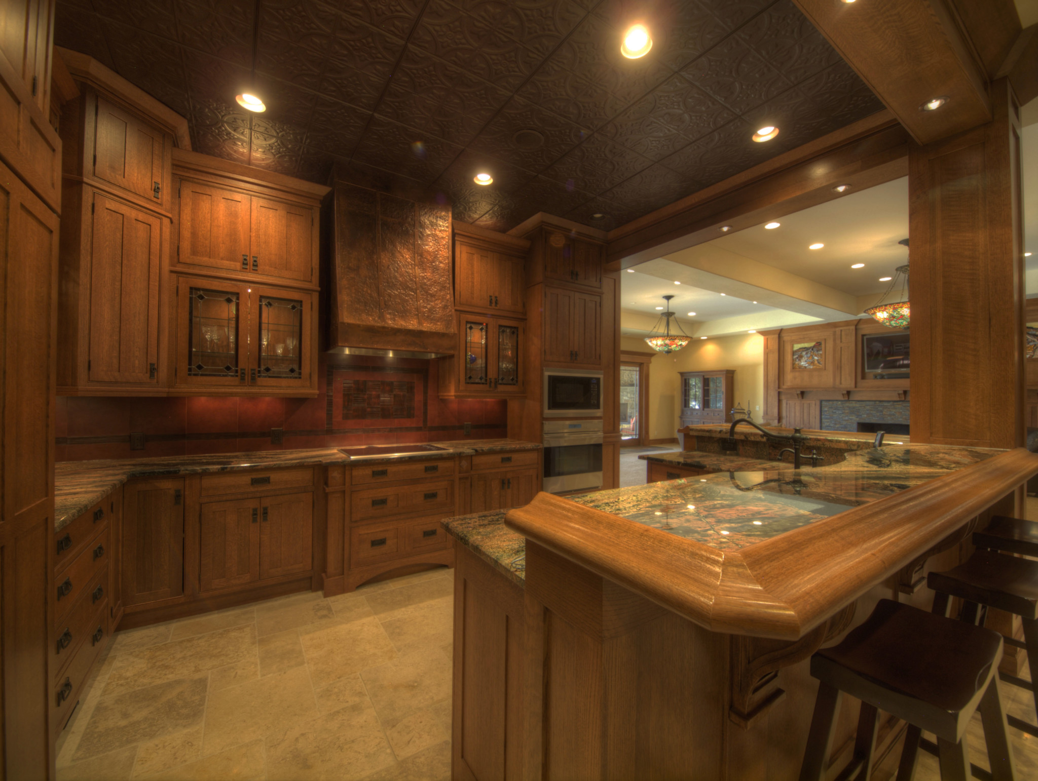 Custom Stained Glass Accents Luxury Million Dollar Home