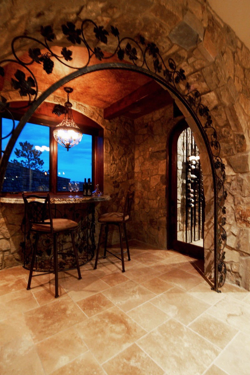 Home Theater Amp Wine Cellar Sets Elegant Country Estate